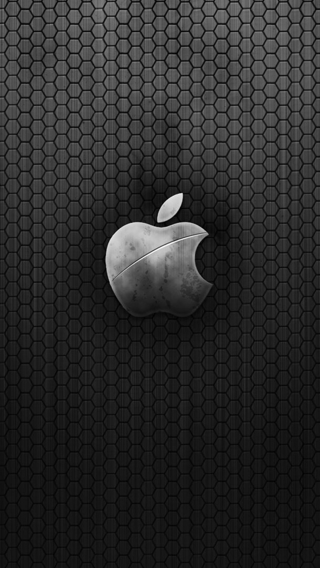 Old Metal Apple Logo Wallpaper   iPhone Wallpapers 640x1136