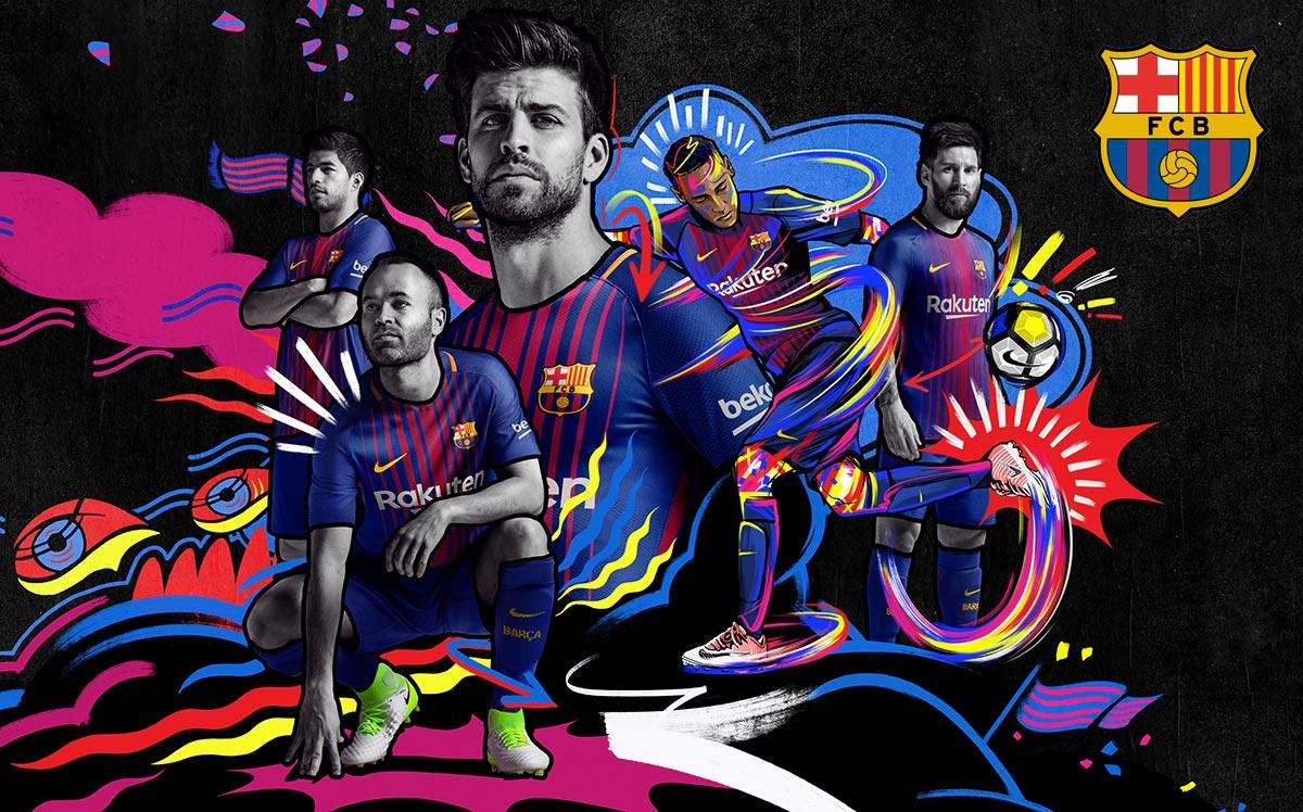 Le Nouveau Maillot du FC Barcelone saison 2017 2018 Foot 1200x748