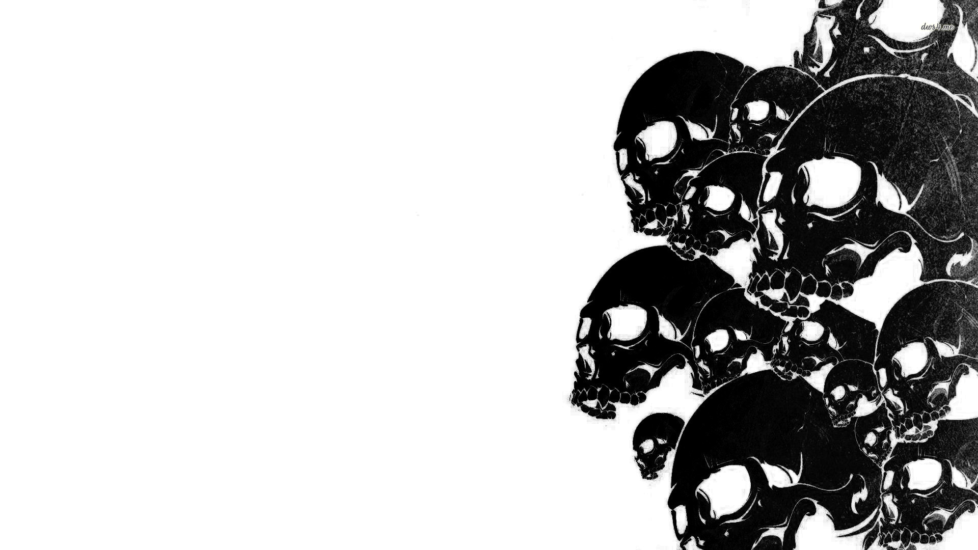 Free Download Black And White Skulls Wallpaper 1280x800 Black And