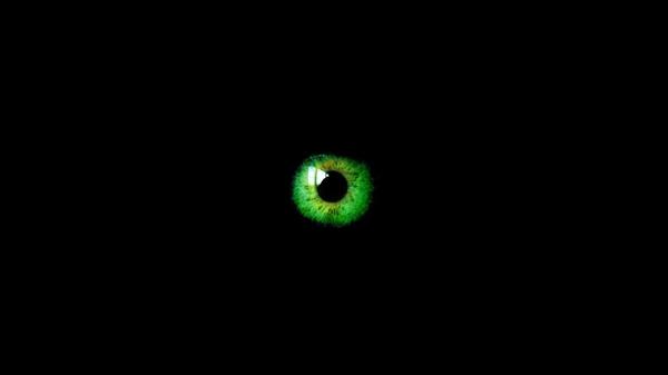 greenabstract green abstract eyes black deviantart black background 600x337