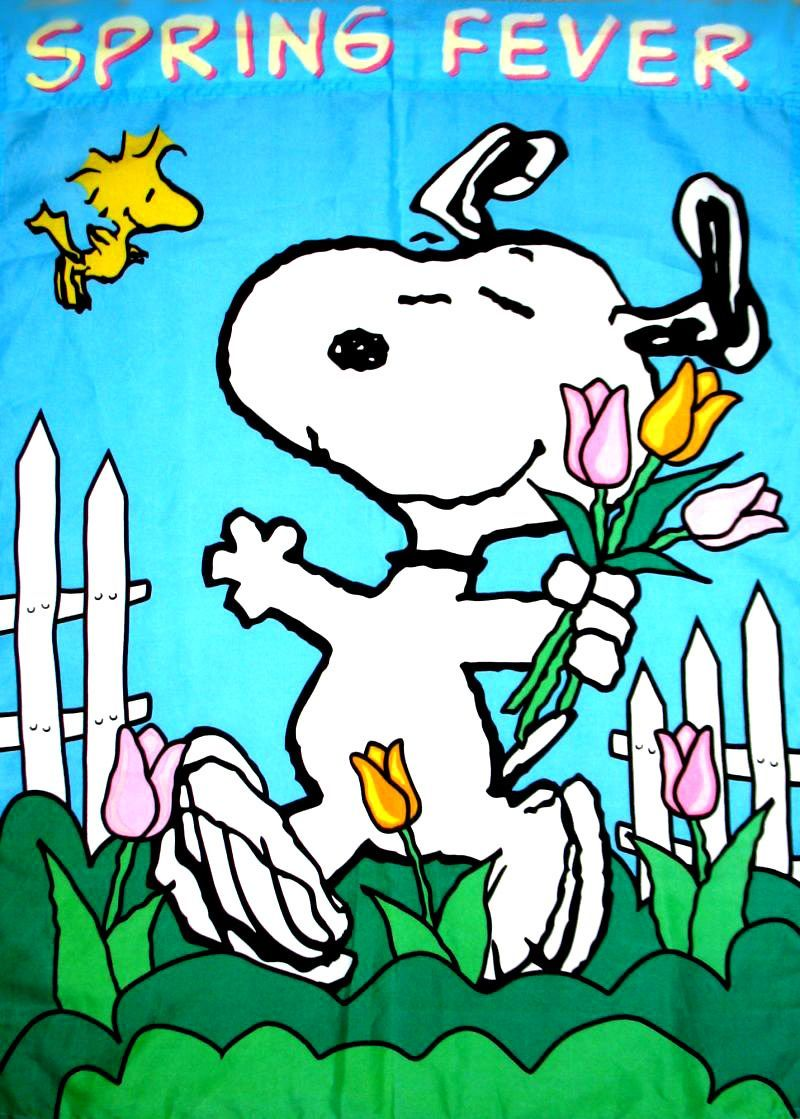 Snoopy spring wallpaper wallpapersafari - Free snoopy images ...