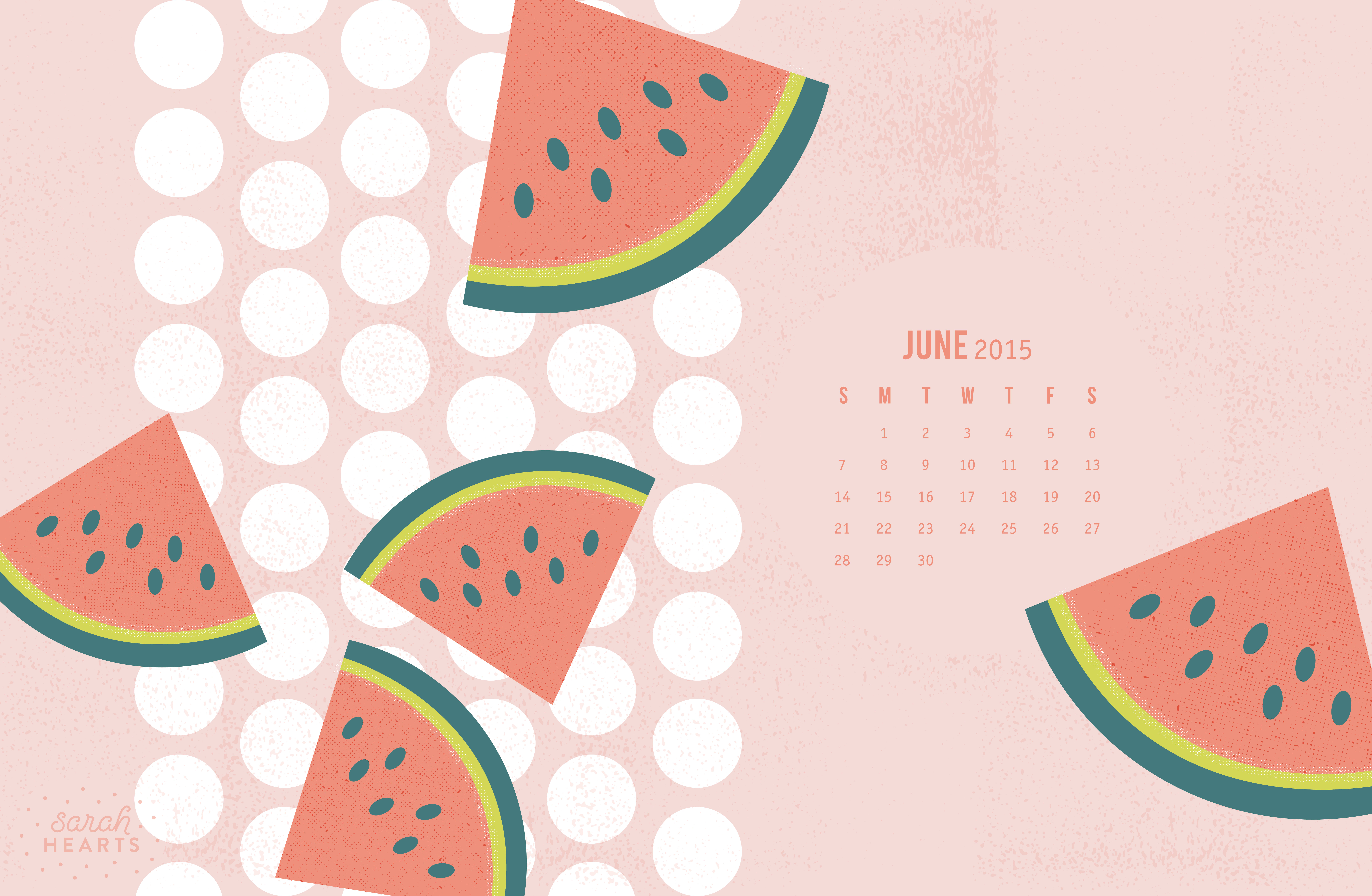 June 2015 Calendar Wallpaper   Sarah Hearts 8800x5744