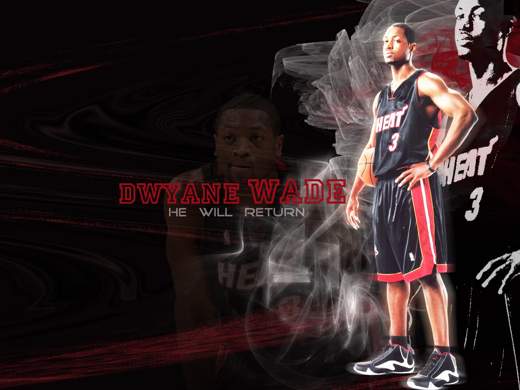 Best Top Desktop Wallpapers HD Dwyane Wade   Miami Heat 1024x768