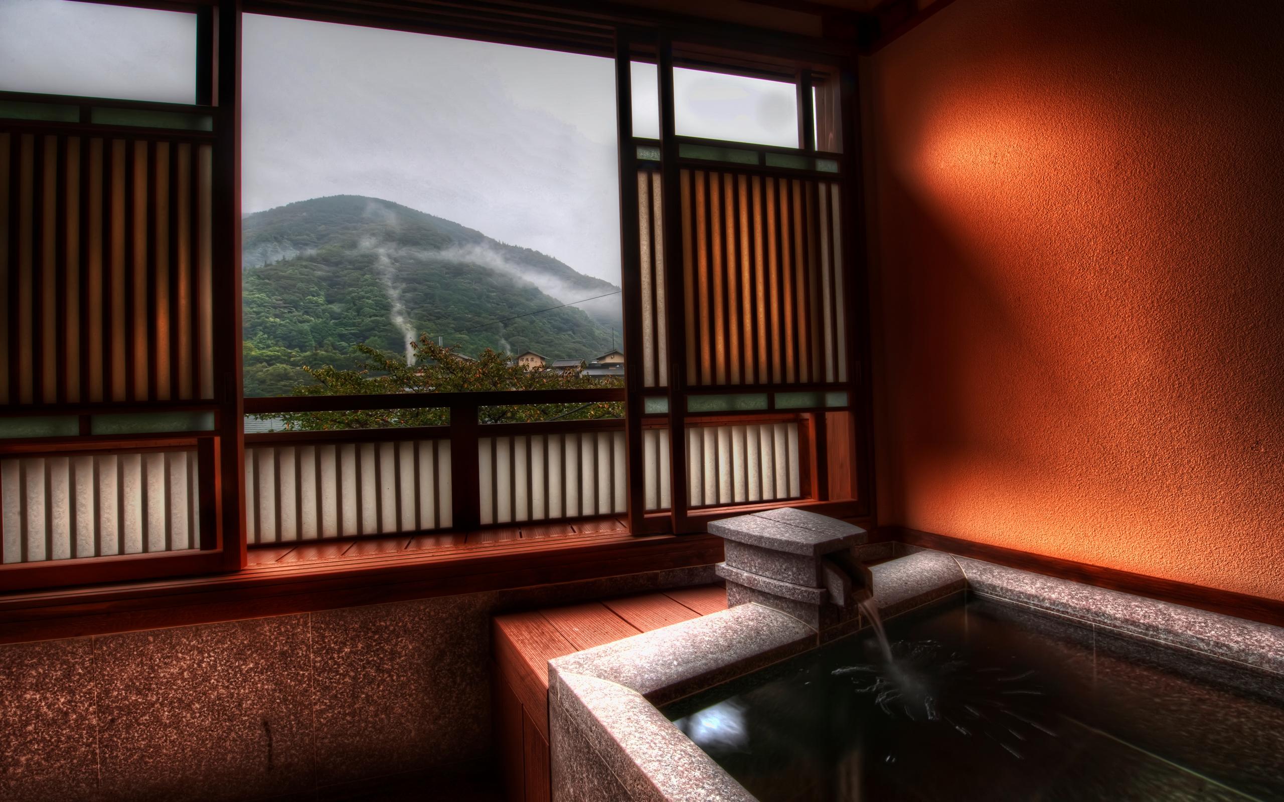 The Peaceful Ryokan Baths of Hakone widescreen wallpaper Wide 2560x1600