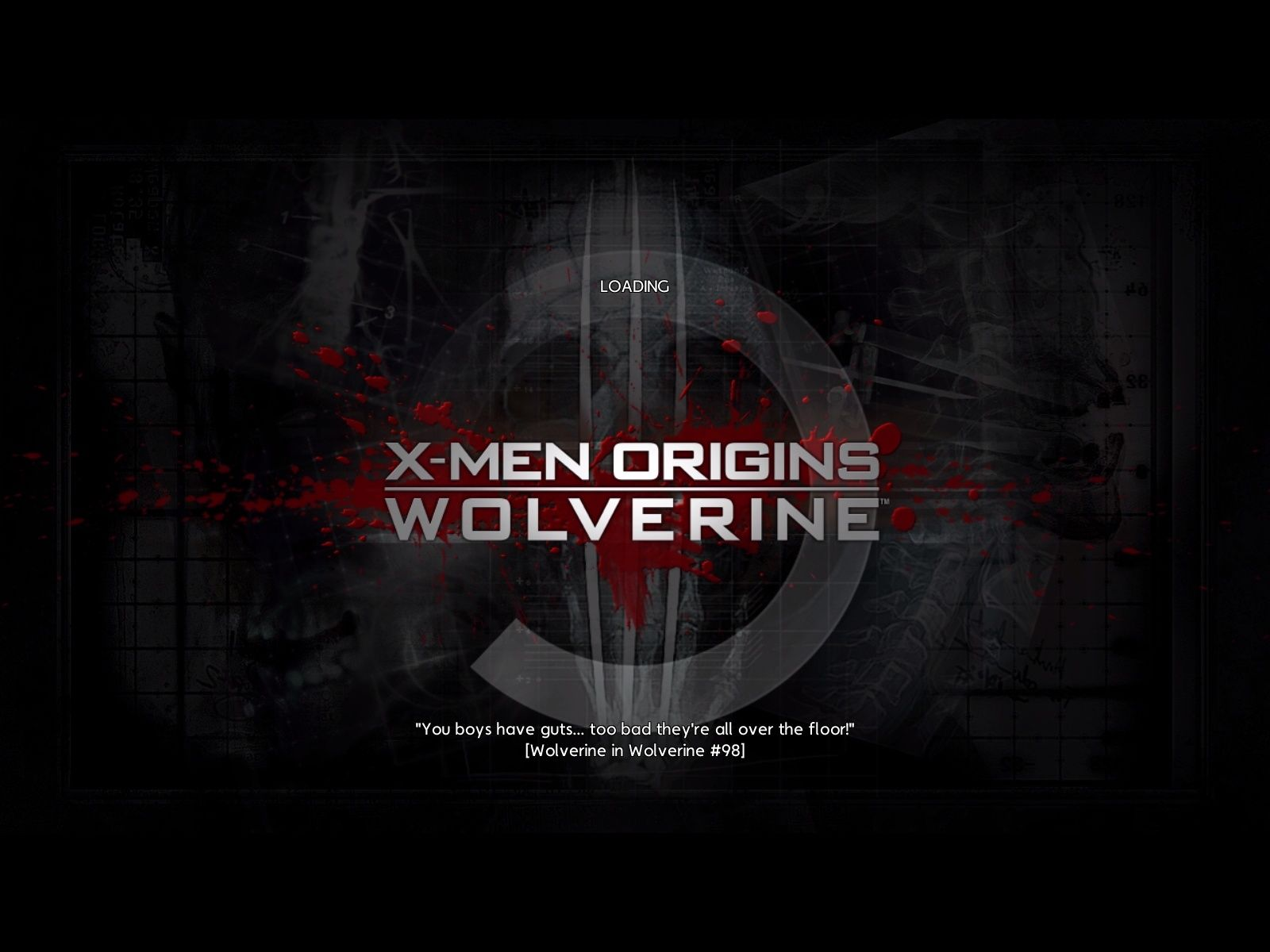 Men Origins Wolverine Uncaged Edition Windows The loading screen 1600x1200