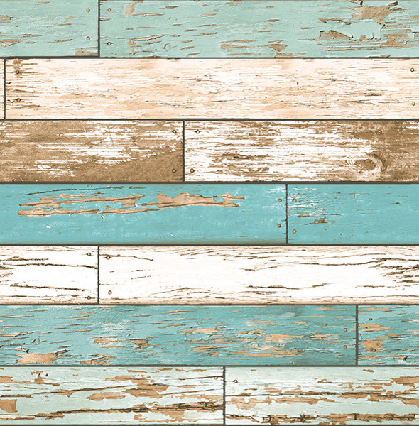 Wood Turquoise Weathered Texture Wallpaper Swatch modern wallpaper 590x600