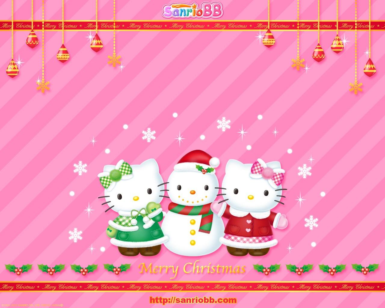 Hello Kitty and Christmas Wallpaper  Hello Kitty Wallpapers