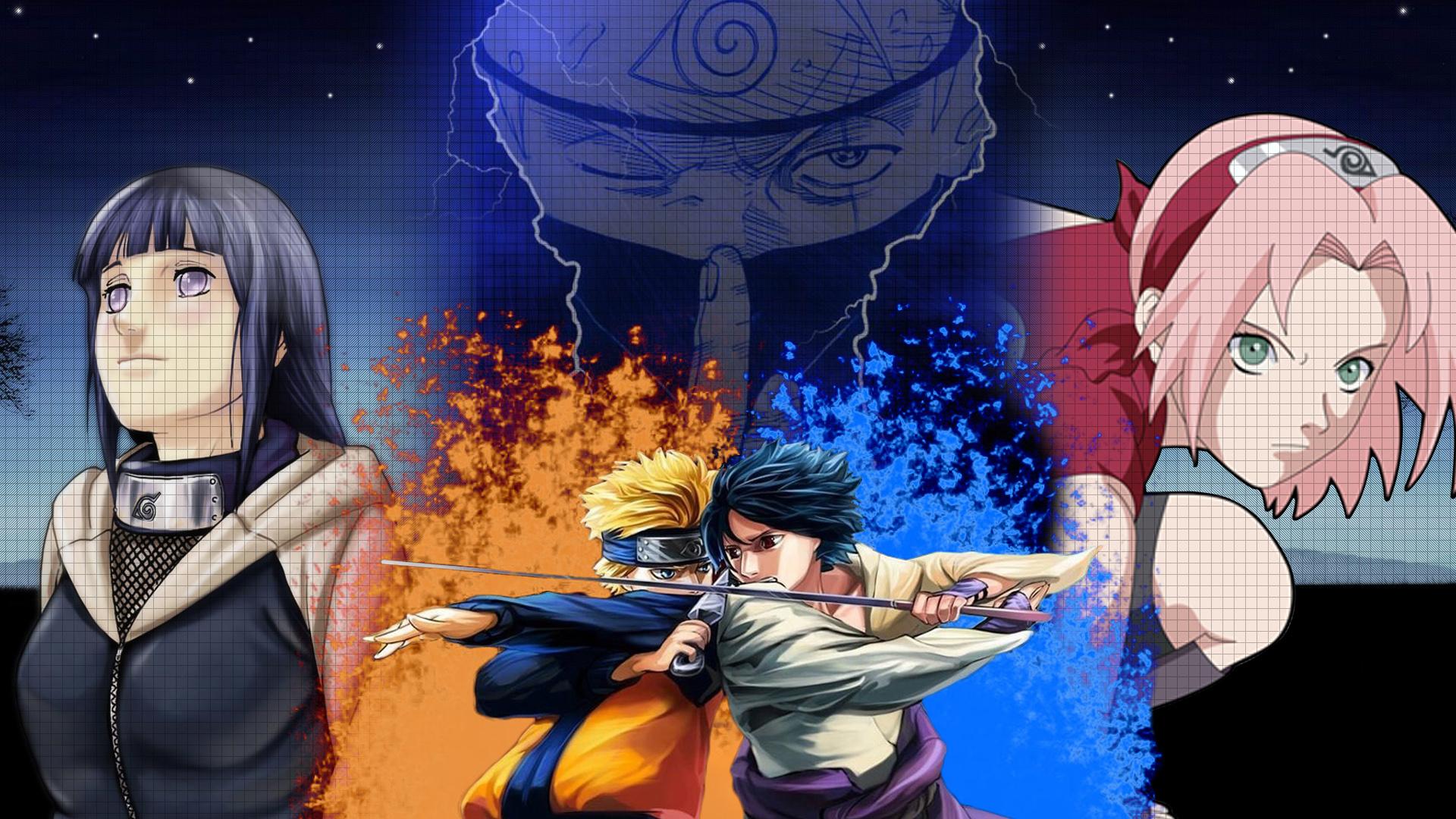 Download Hinata Naruto Sasuke Sakura Kakashi Wallpaper 1920x1080 1920x1080