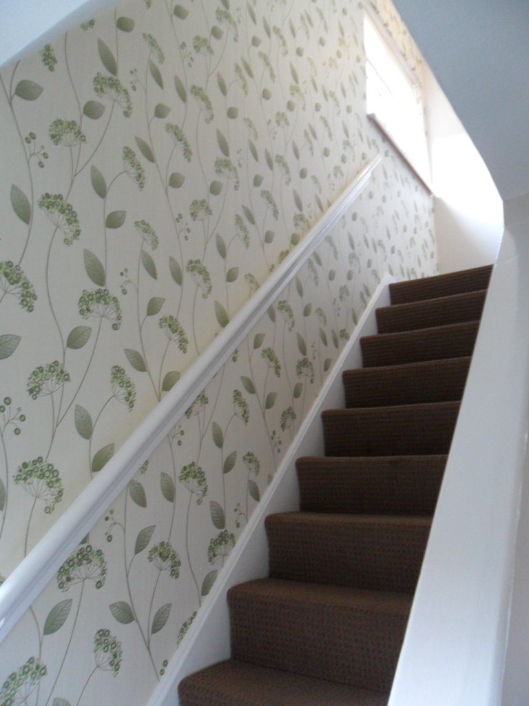 ... 112x150 Miss Foreman Hall Stairs & Landing painting and wallpapering