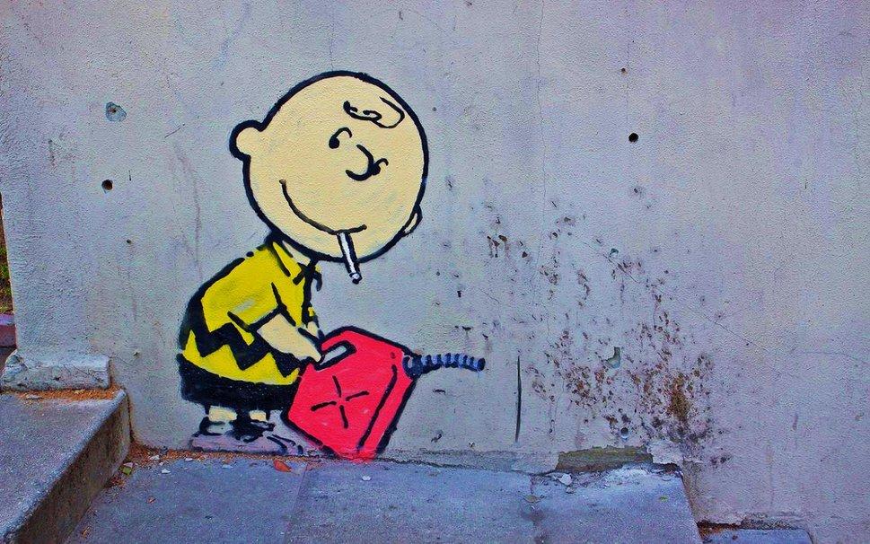 Banksy Charlie Brown wallpaper   ForWallpapercom 969x606