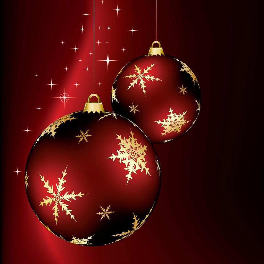 iPad Wallpapers Download Christmas Ornaments iPad mini 1024x1024