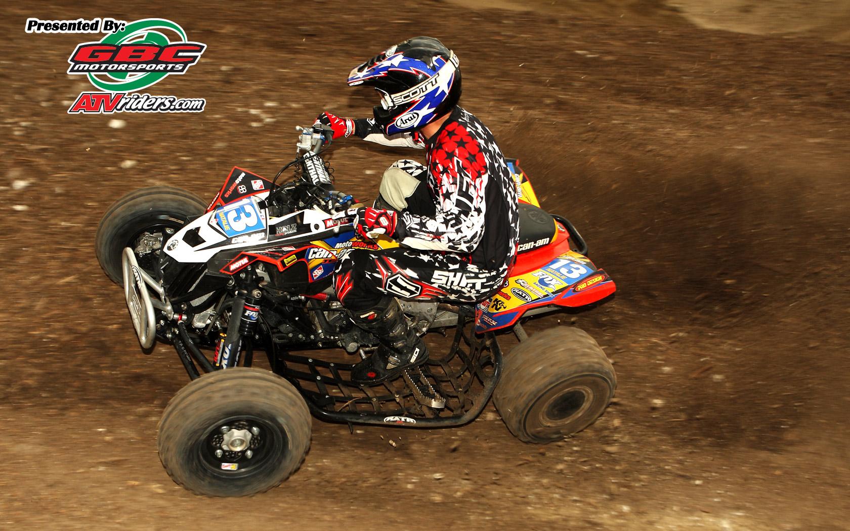 Fox Shoxs 13 John Natalie   AMA ATV Motocross Pro ATV Racer 1680x1050