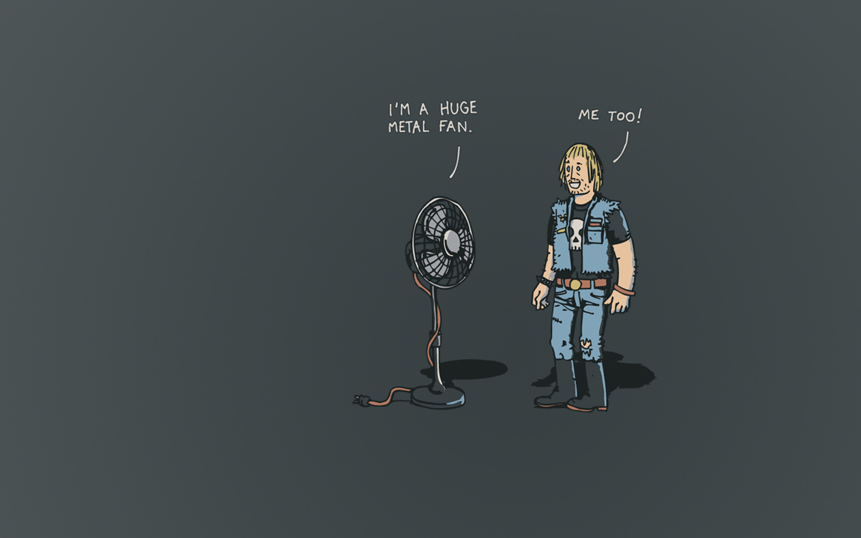 Metal Fan Funny Joke   Wallpaper 30683 1680x1050