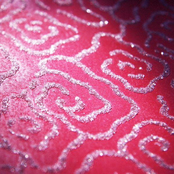 Sugar Trails   Pink   Glass Bead Glitter Glass Printed Wallpaper [GLP 600x600