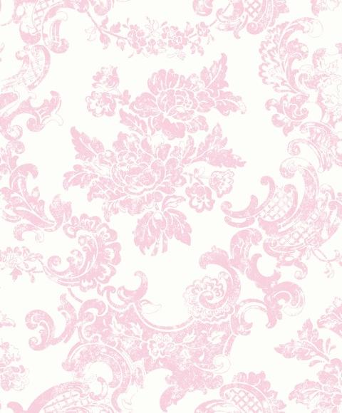 about Tea Rose   M0756   Vintage Lace   Pink   Damask   Wallpaper 480x580