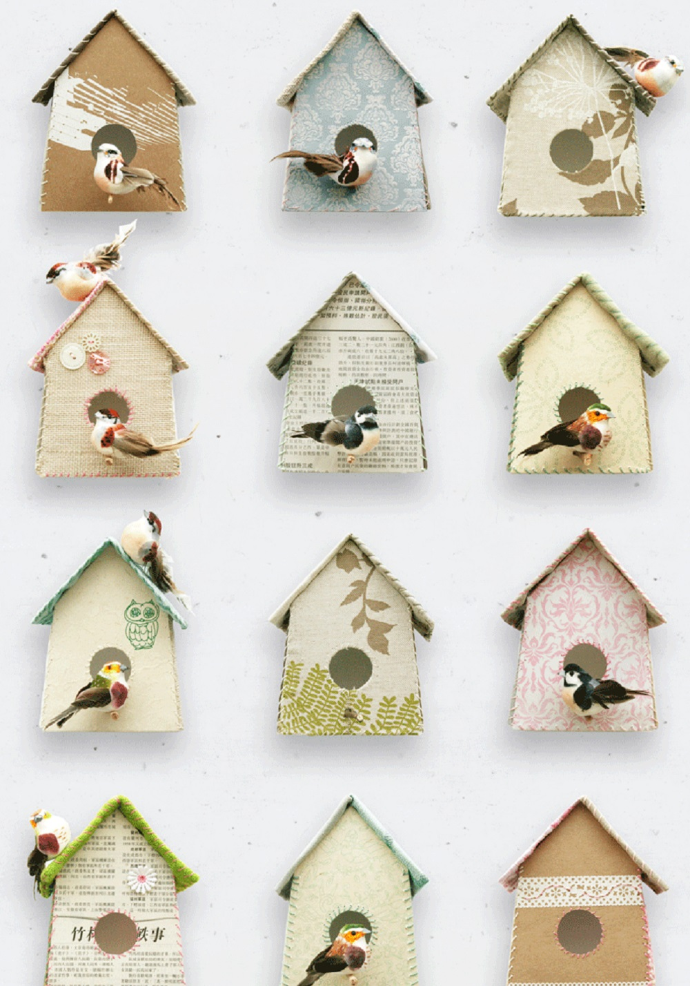 Finds bird house wallpaper Homegirl London 1000x1428
