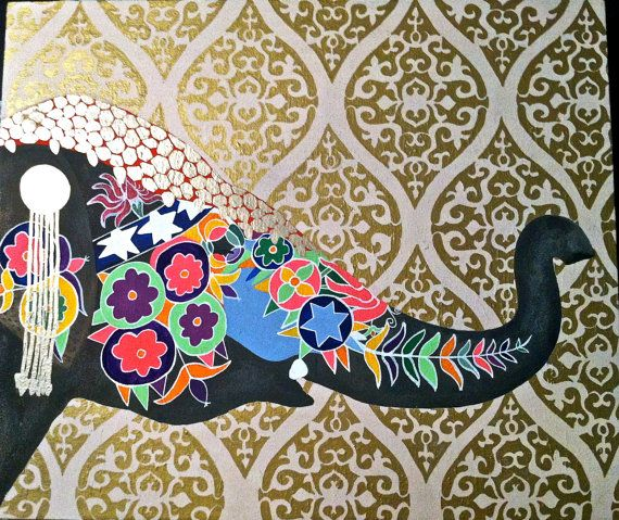 Completely Customized Painting Elephant Peacock Elk Examples 40 570x479