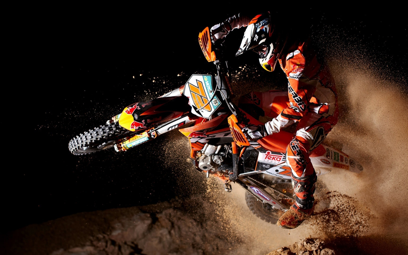 motocross motorcycles dirt track racing race ktm bike wallpaper 1680x1050