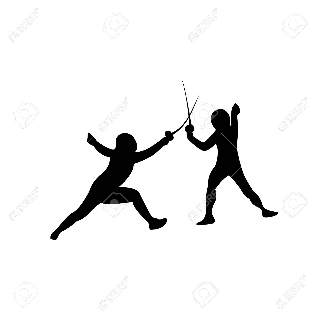 Fencing Sport Shorts Icon On The White Background Vector 1300x1300