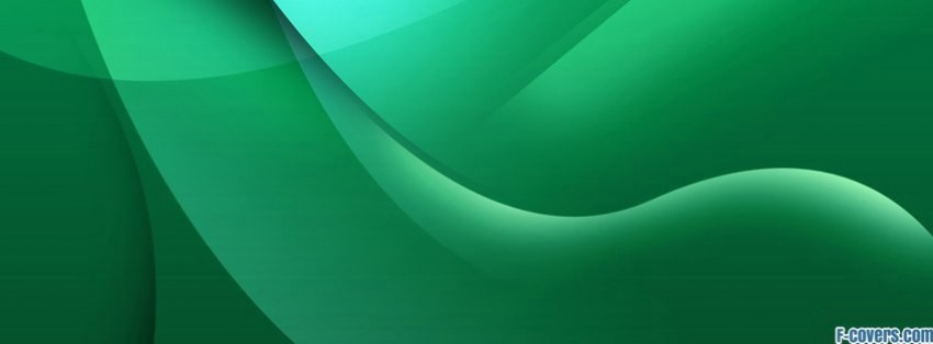 emerald green abstract waves facebook cover for timeline 850x314