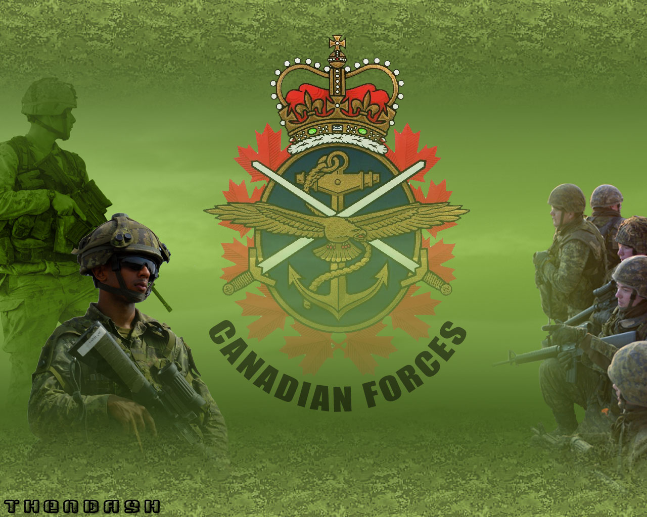Canadian Forces Wallpaper 1280x1024