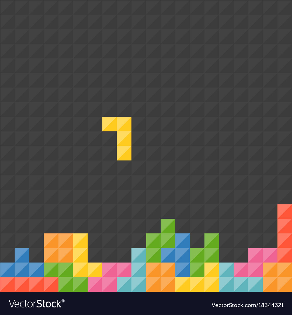 Tetris pieces with black background Royalty Vector 1000x1080