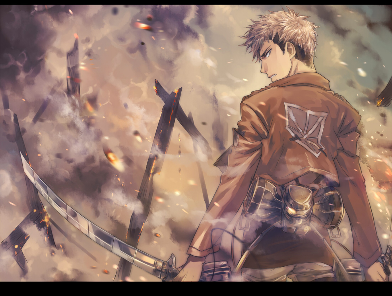 Titan Shingeki no Kyojin Anime HD Wallpaper Desktop PC Background 2118 1366x1032