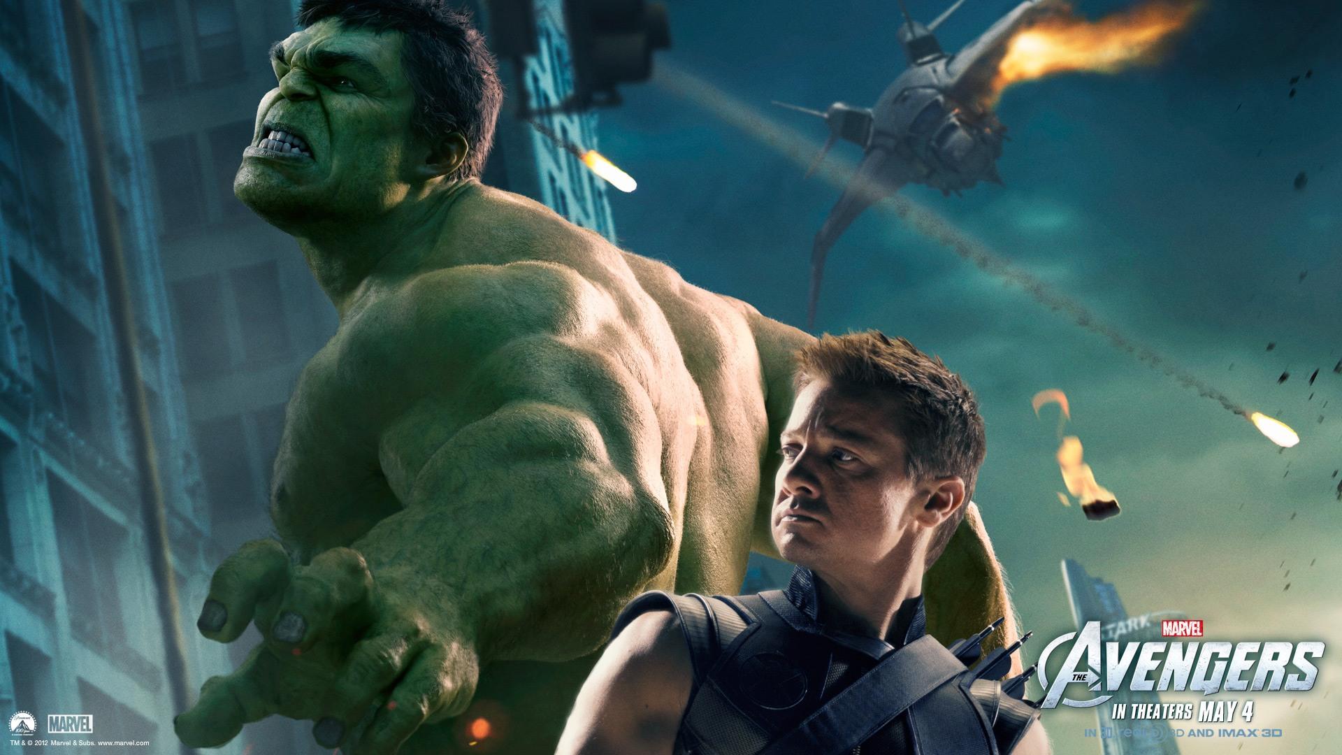 The Avengers   Hulk Hawkeye desktop wallpaper 1920x1080