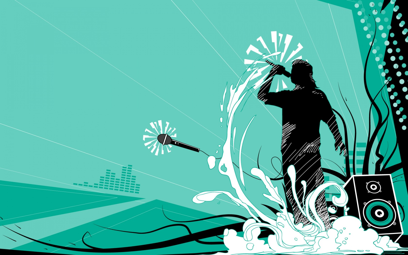 Designs Wallpapers Art Images HD Wallpapers vector party man 1680x1050