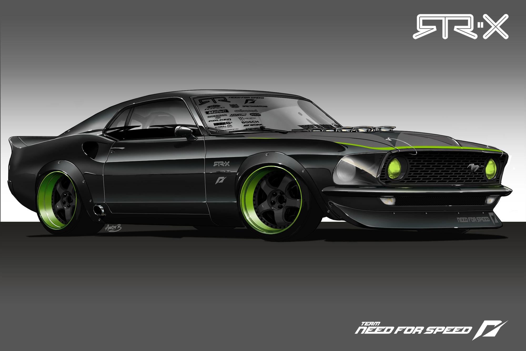 and Mustang nut Vaughn Gittin Jr is building a radical 69 Mustang 2000x1333