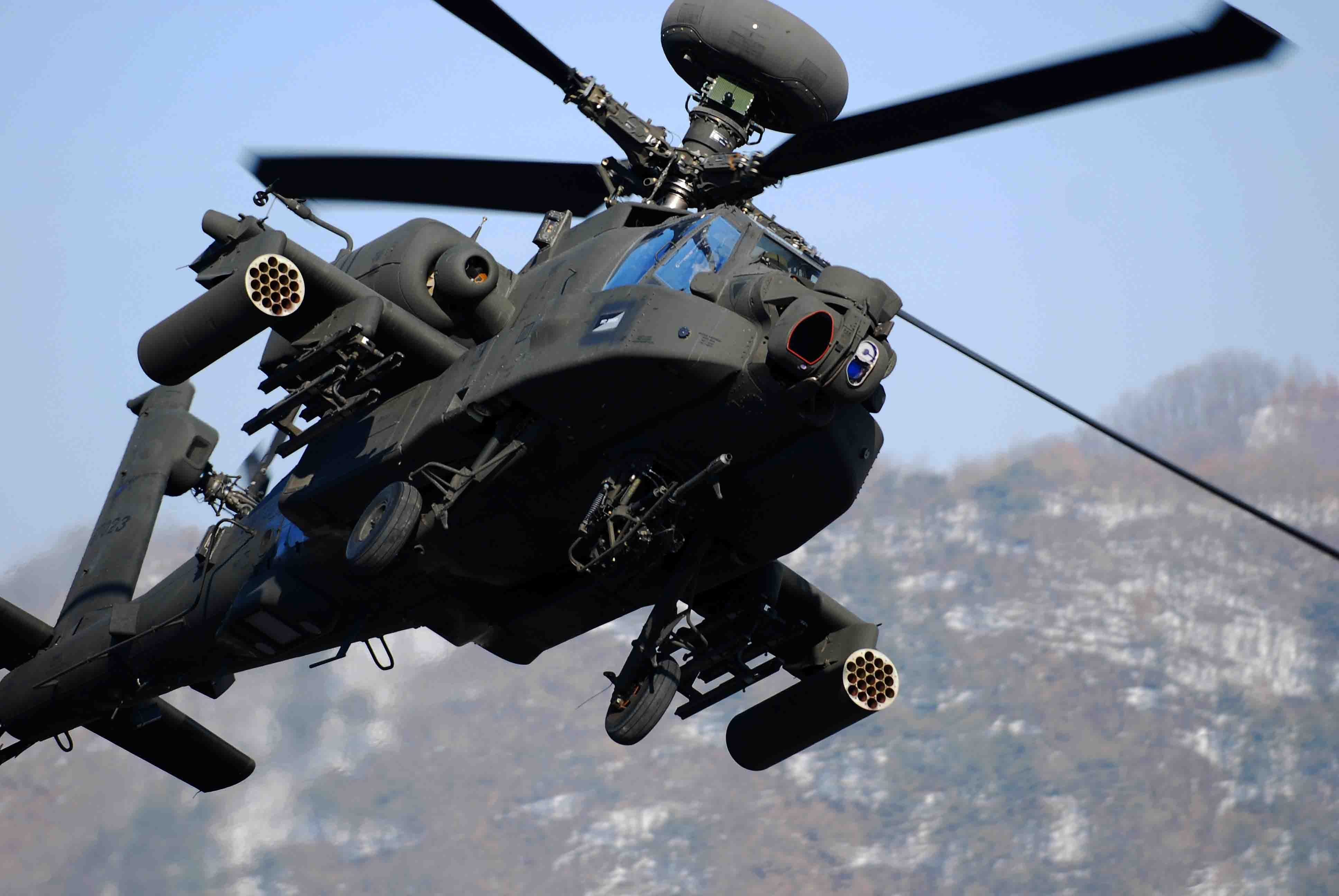 AH 64 APACHE attack helicopter army military weapon 39 wallpaper 3872x2592