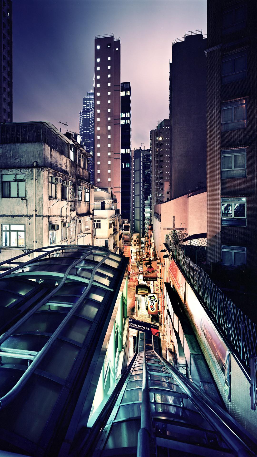 1080x1920 UCA Night Hong Kong wallpaper Donald Williamson 1080x1920