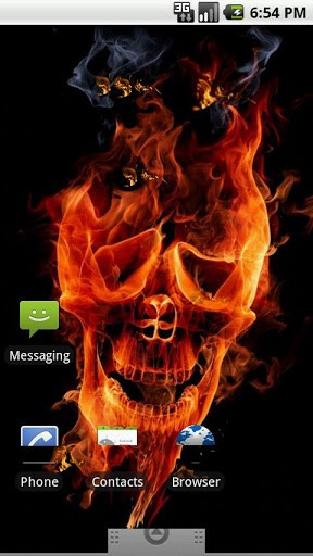 View bigger   Skull Fire HD Live Wallpaper for Android screenshot 288x512