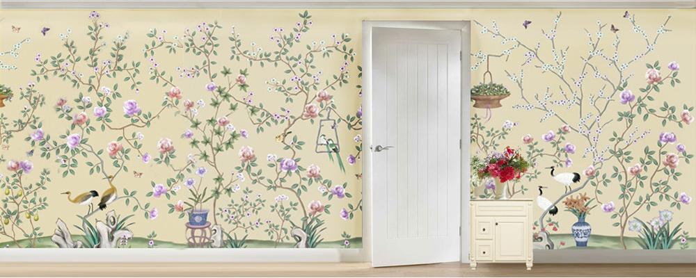 wallpaper china wallpaper grace silk wallpaper panel chinoiserie 1000x400