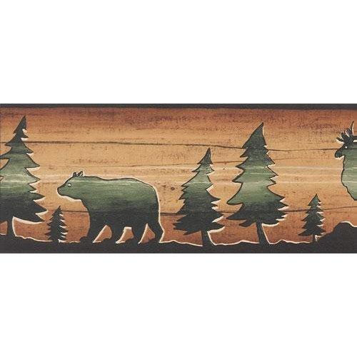 Bear Moose Elk Wallpaper Border 500x500