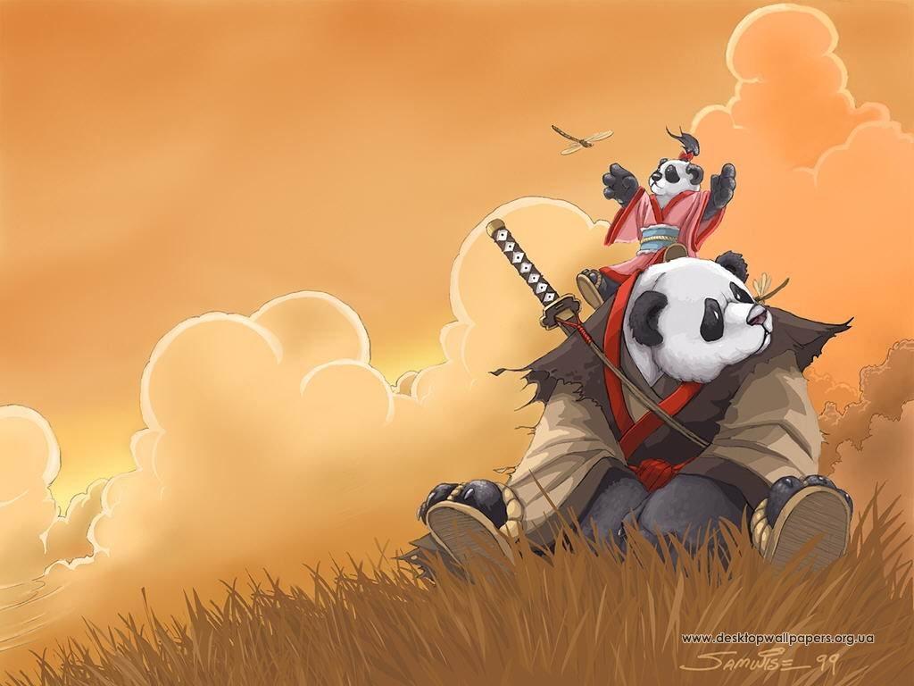 Wallpapers Desktop Wallpapers anime panda samurai Wallpapers Anime 1024x768