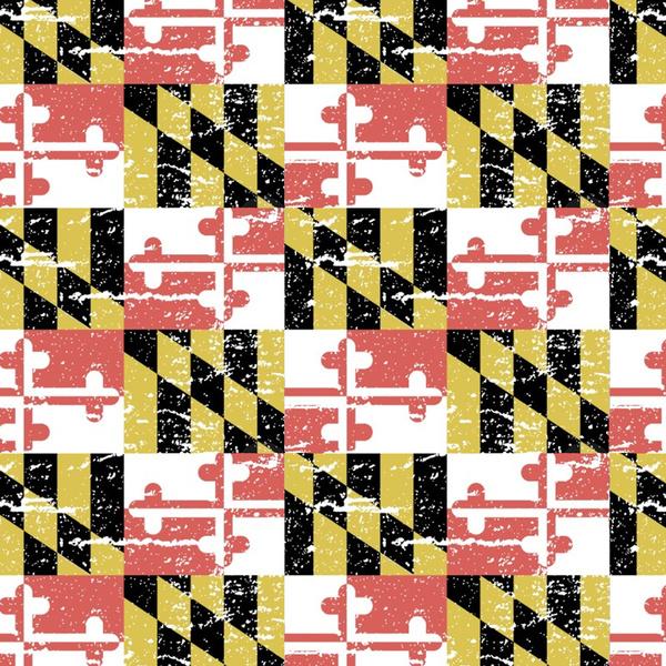 Distressed Maryland Flag Framed Art Print by RSG514 Society6 600x600
