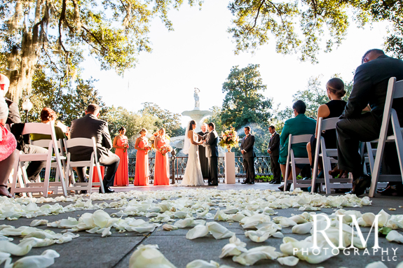 Forsyth Park Wedding Ceremony in Savannah GA 575x383