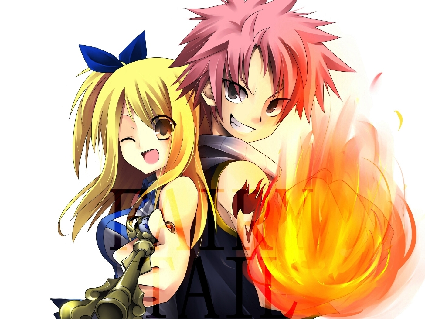 Natsu Dragneel images Lucy and Natsu wallpaper photos 19374099 1400x1050