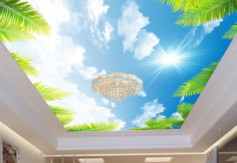Cielo Nube Techo Wallpaper Pvc 3d Efecto Techo Mural Vinilo 995x685