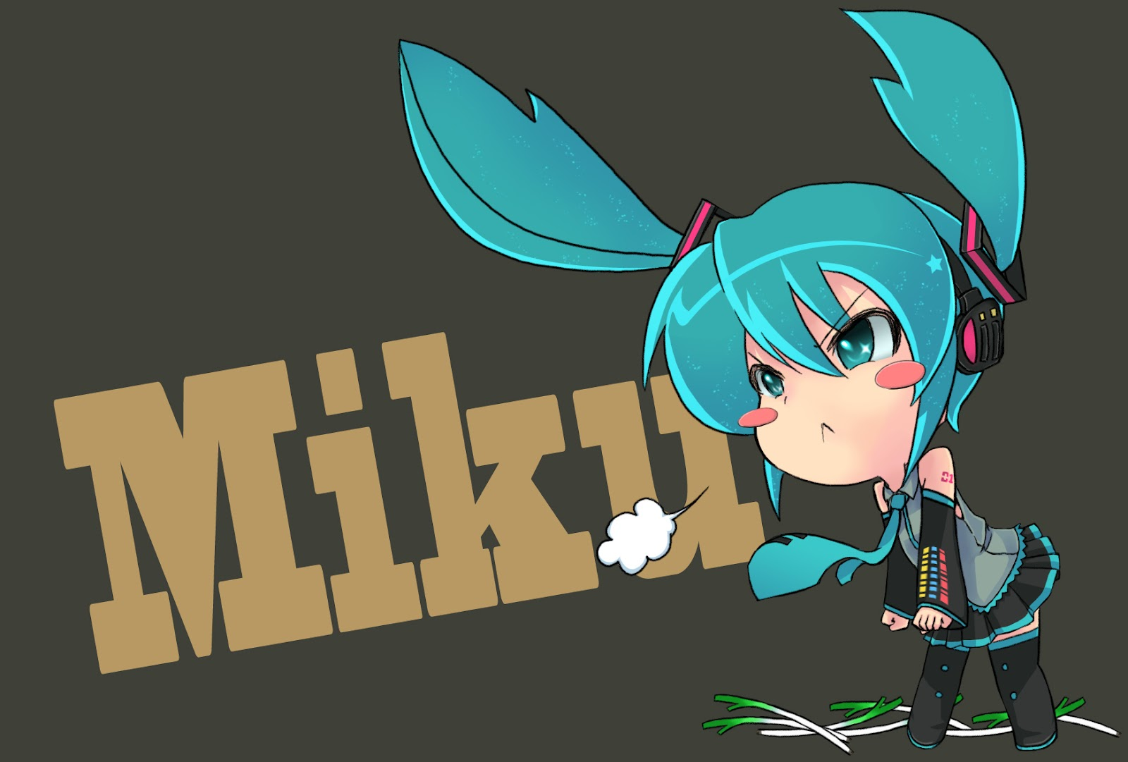 Hatsune Miku Chibi Wallpaper - WallpaperSafari Hatsune Miku Chibi Wallpaper