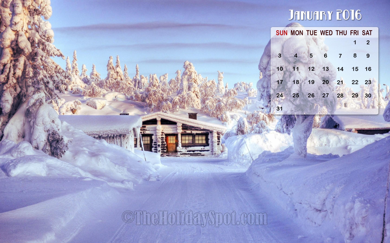 January Calendar Wallpaper 2016 2880x1800