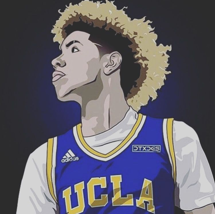 LaMelo Ball LaMelo Ball Basketball art Basketball drawings 750x747