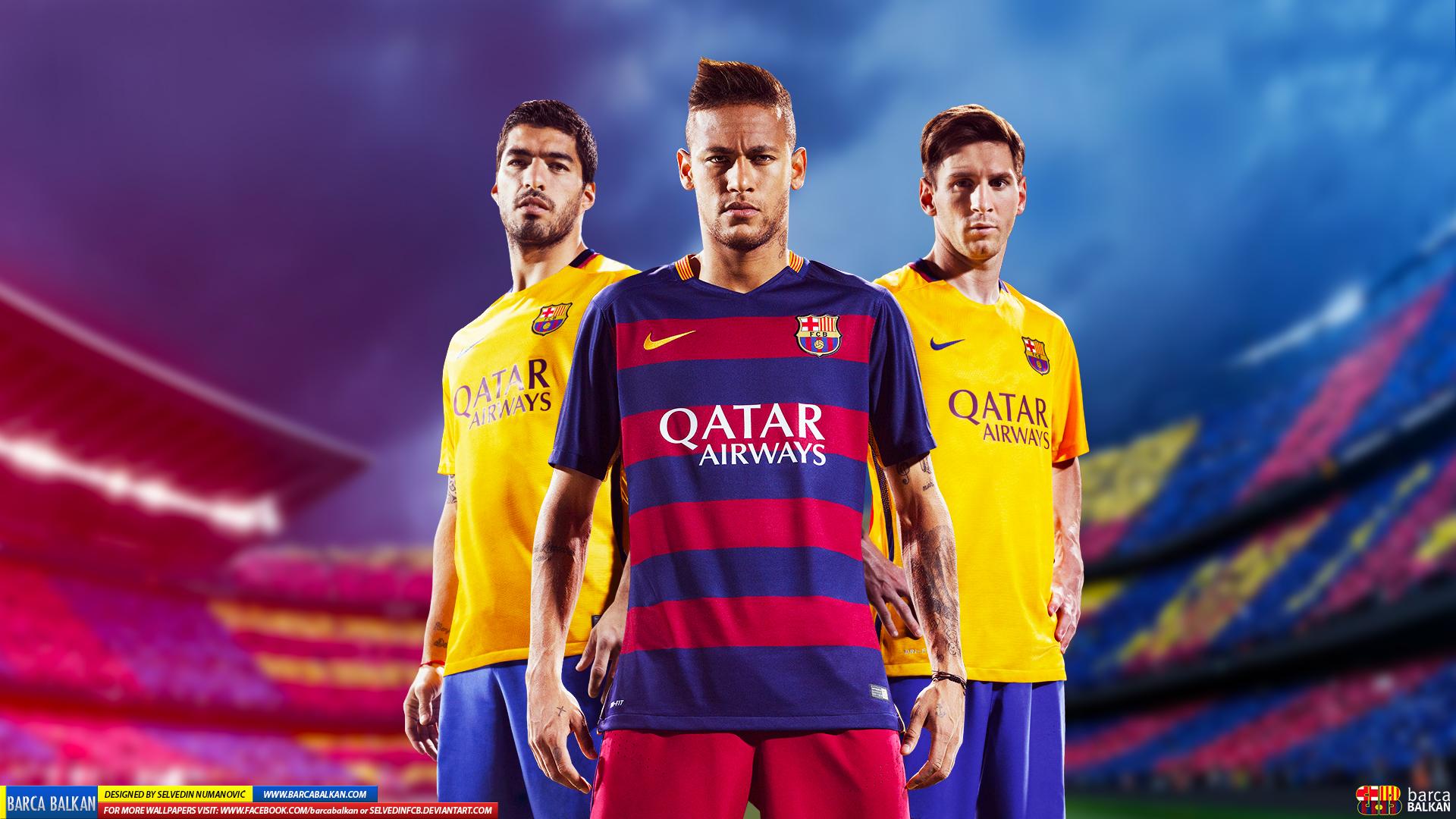 Messi Suarez Neymar HD wallpaper 2015 by SelvedinFCB 1920x1080