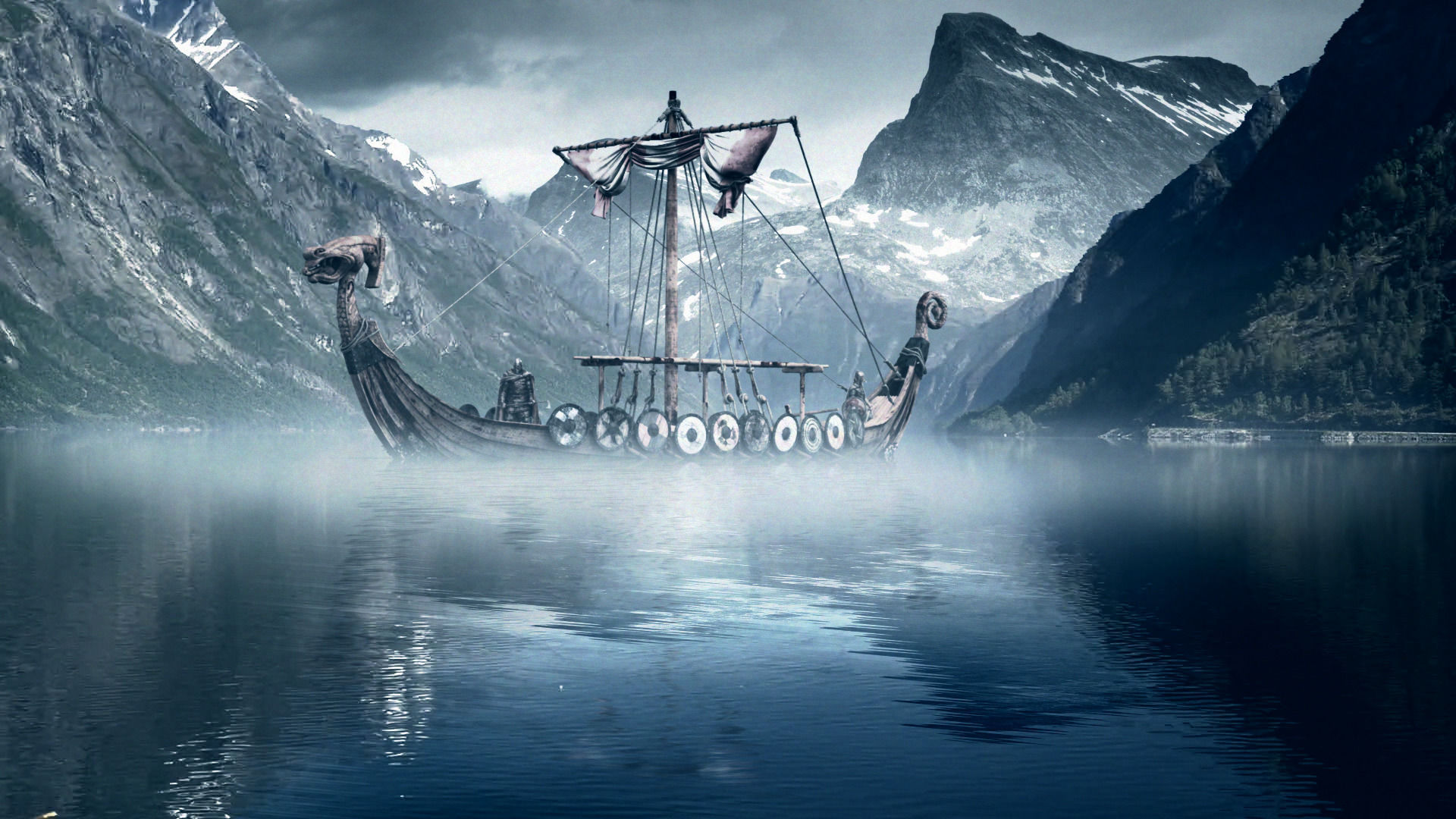 Wallpapers for desktop viking ships wallpapersafari - Norse mythology 4k wallpaper ...