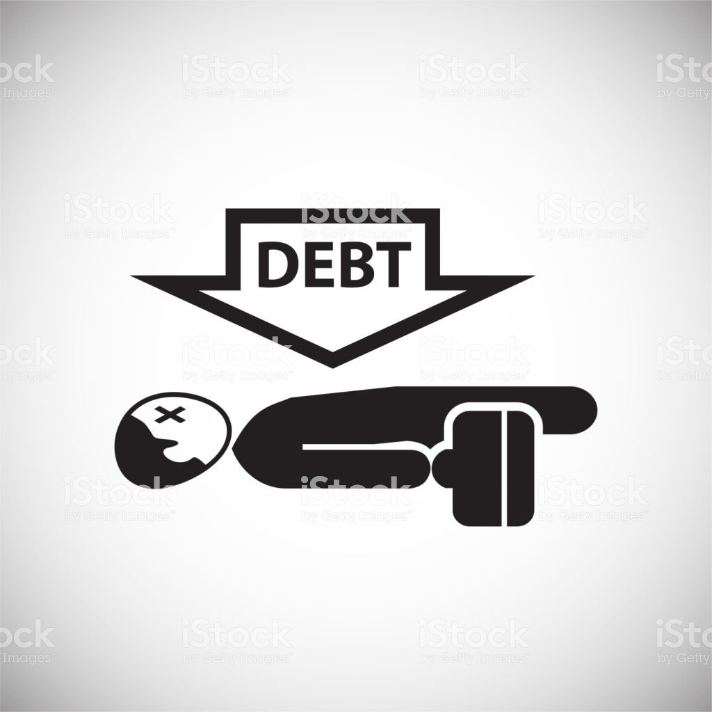 Businessman With Debt On White Background Stock Vector Art More 1024x1023
