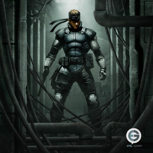 Free Download Metal Gear Solid Solid Snake Artwork Metal