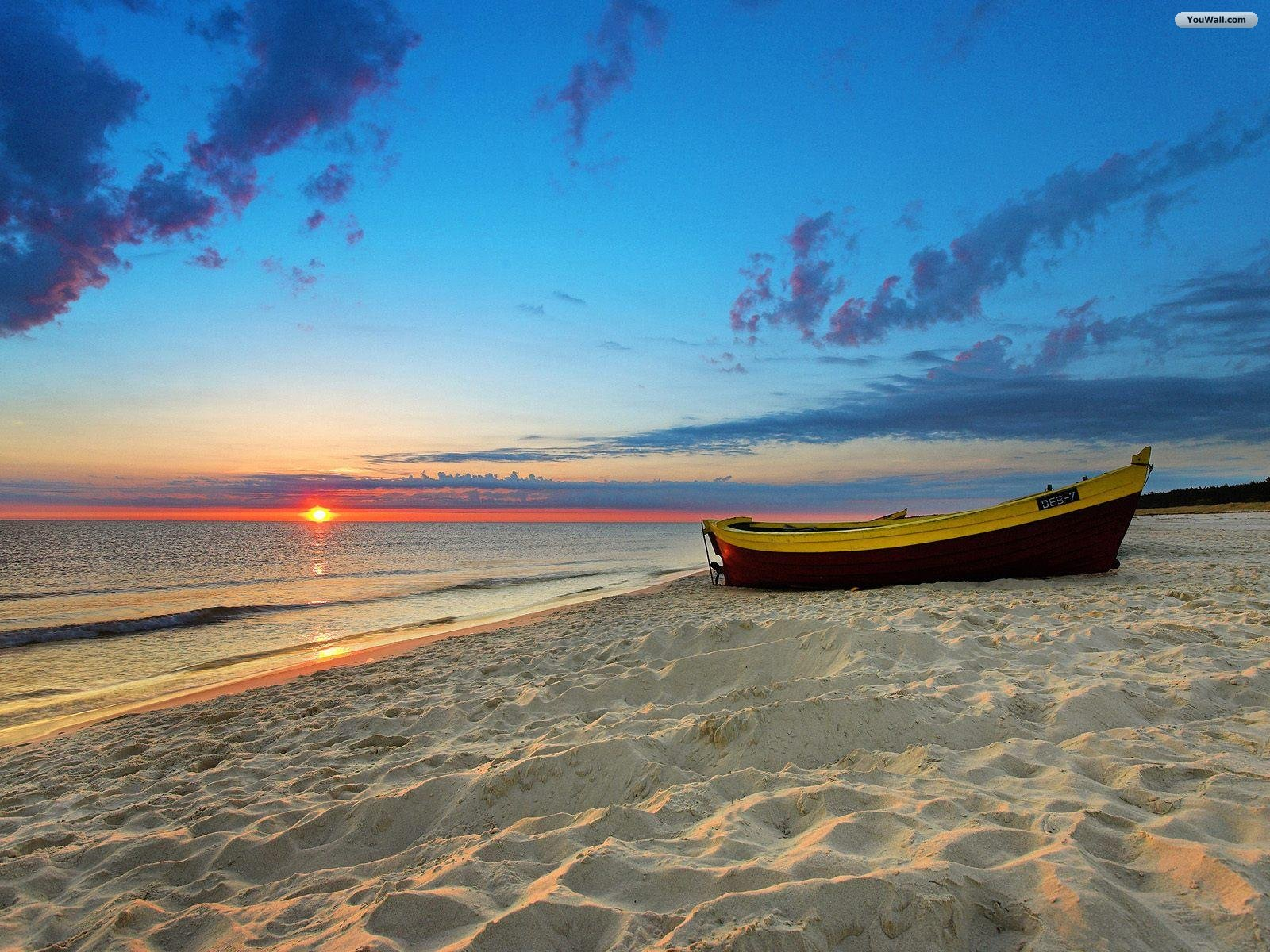 The Beach Sunset Wallpaper 1600x1200