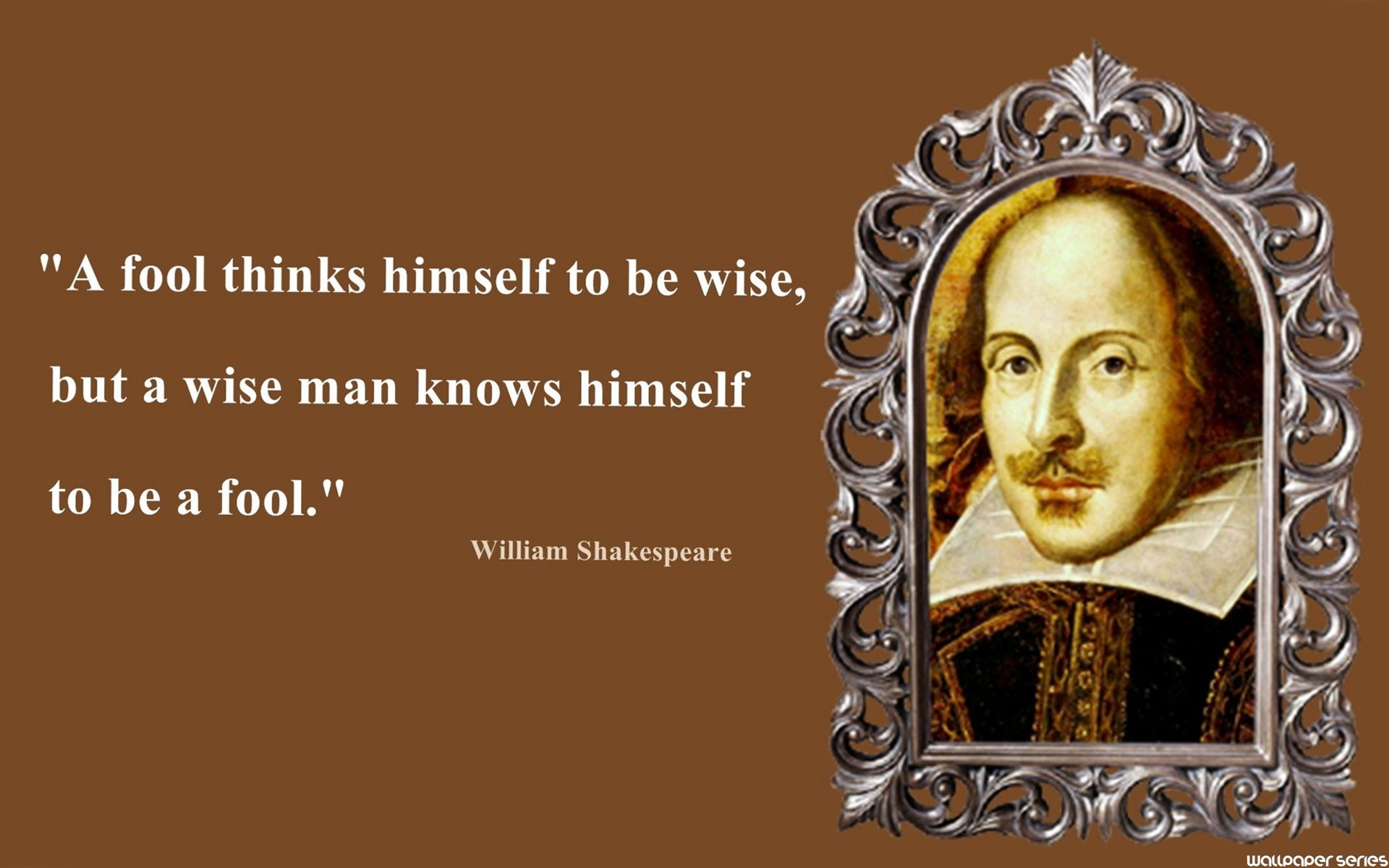 William Shakespeare Fool Thinks Quotes Wallpaper 10937   Baltana 1920x1200