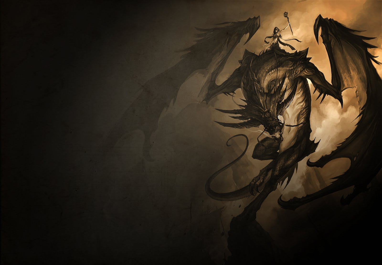 Badass Wallpapers Dragon Rider 1600x1111